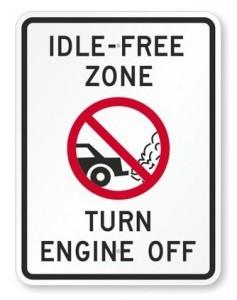 Idle-free! Motor uit!
