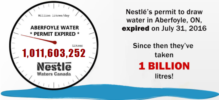 Nestlé steals more than 1 billion litres of water